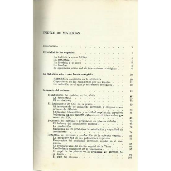 Ecofisiología vegetal