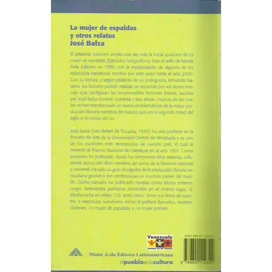 La mujer de espaldas y otros relatos por José Balza