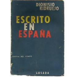 Escrito en España