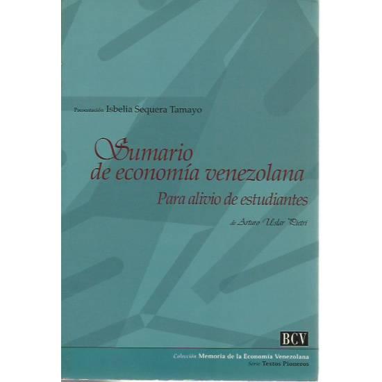 Sumario de economia venezolana