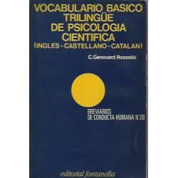 Vocabulario básico trilingue de psicología científica