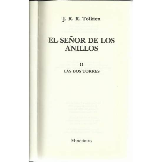 El señor de los anillos tomo 2 Las dos torres (novela)