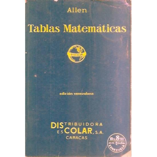 Tablas matemáticas