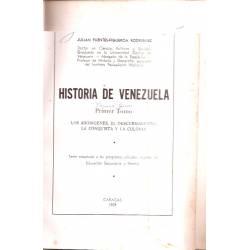 Historia de Venezuela 2 tomos Julian Fuentes-Figueroa Rodríguez