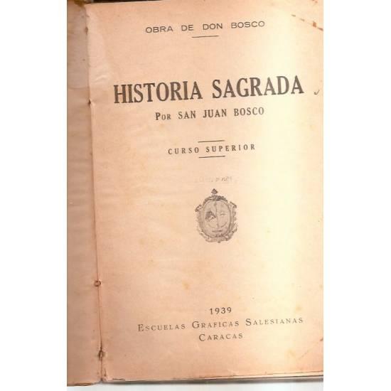 Historia sagrada San Juan Bosco del año 1939
