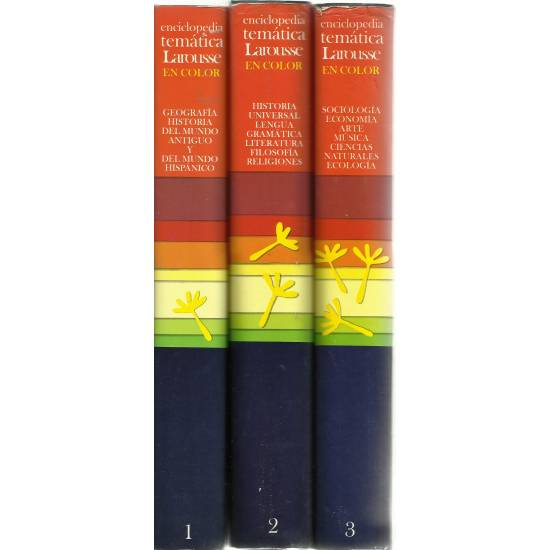 Pequeña Enciclopedia Temática Larousse en color (3 tomos)
