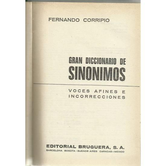 Gran Diccionario de Sinónimos