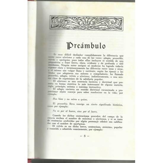 Diccionario de aforismos proverbios y refranes