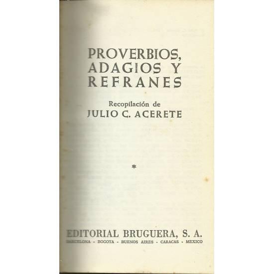 Proverbios, adagios y refranes
