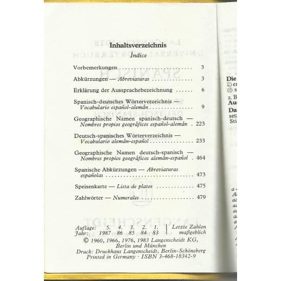 Langenscheidts Universal-Worterbuch Spanisch-Deutsch