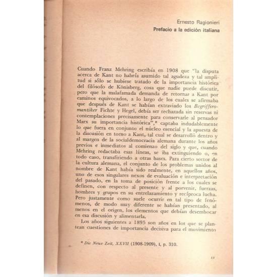 Ética y concepción materialista de la historia