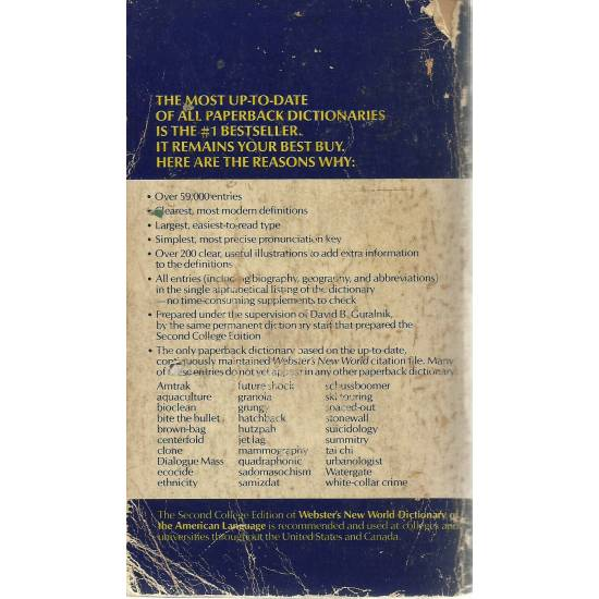 Websters New World Dictionary of the american languageEnglish/Spanish Español/Inglés Dictionary