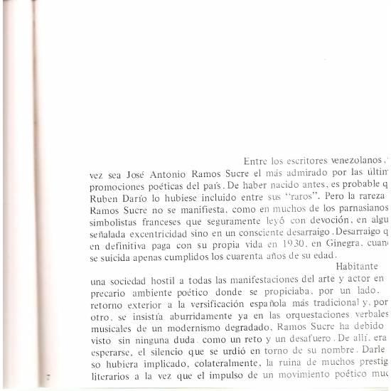 Antología poética de Ramos Sucre