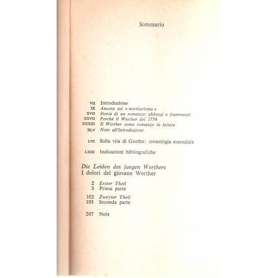 I dolori del giovane Werther (edición bilingüe alemán-italiano)