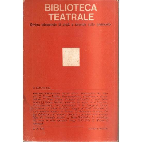 Biblioteca teatrale n 20 (en italiano)