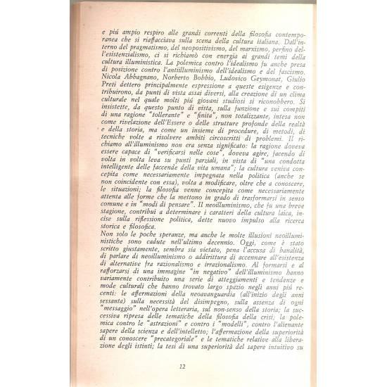 Lezioni sull´illuminismo (en italiano)