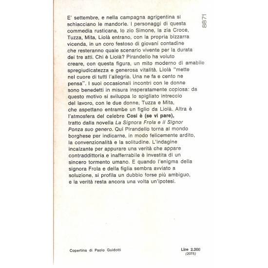 Liolá y Cosí é (se vi pare) (en italiano)