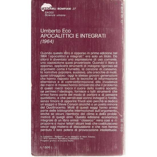 Apocalittici e integrati (en italiano)