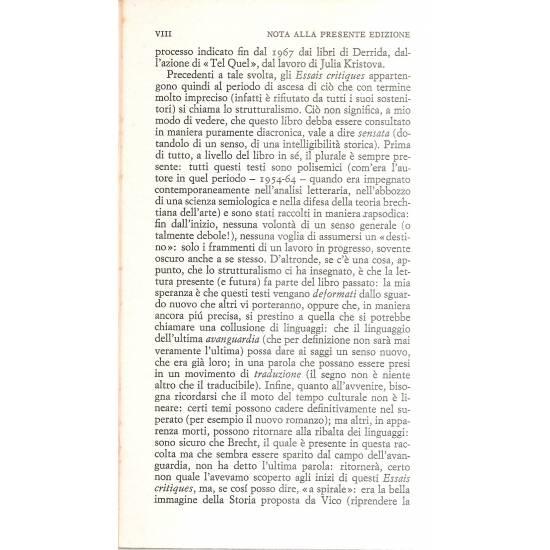 Saggi Critici Roland Barthes (en italiano)