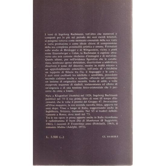 Ingeborg Bachmann Poesie (edición bilingüe alemán-italiano)