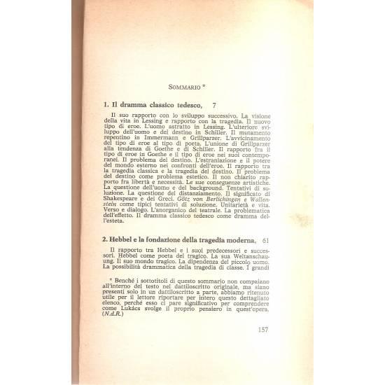 La genesi della tragedia borghese da Lessing a Ibsen (en italiano)
