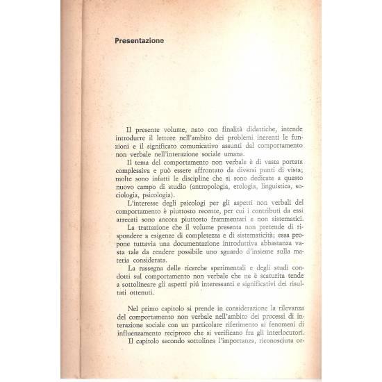 Comportamento non verbale e comunicazione (en italiano)