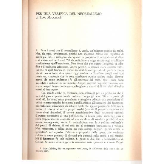 Il neorealismo cinematografico italiano (en italiano)