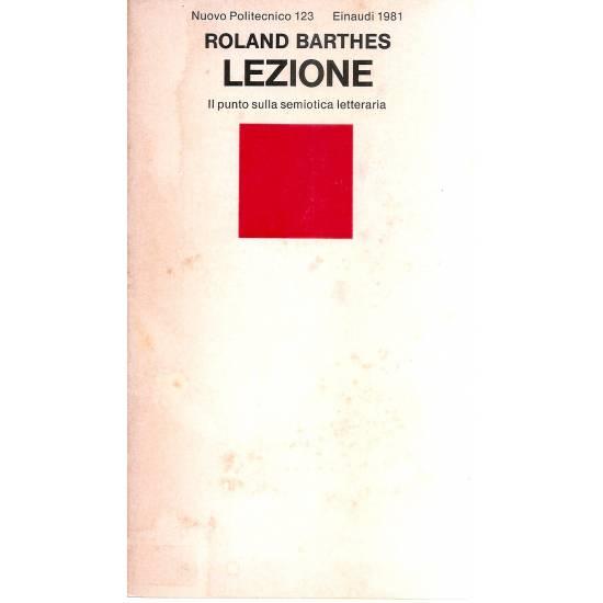 Lezione Roland Barthes (en italiano)