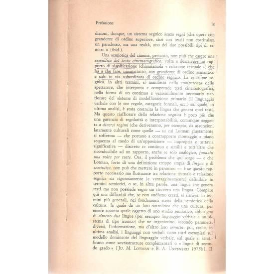 Introduzione alla semiotica del cinema (en italiano)
