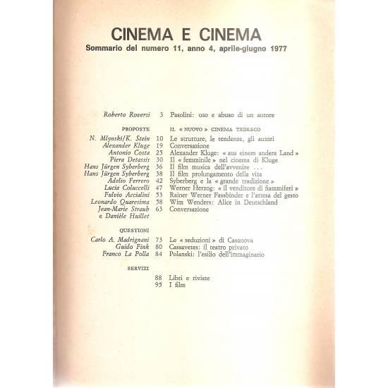 Il nuovo cinema tedesco (en italiano)