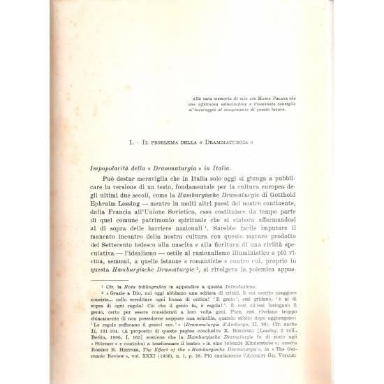 Drammaturgia D´Amburgo (en italiano)