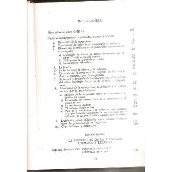 El Capital (libro 1, volumen 2)