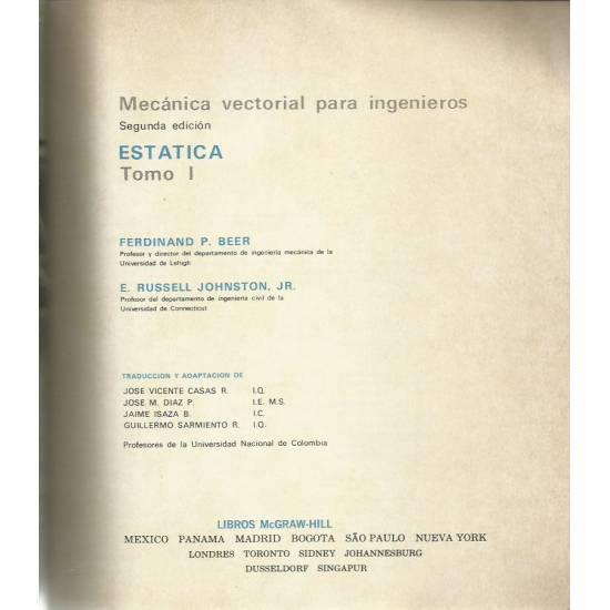 Estática Mecánica vectorial para ingenieros