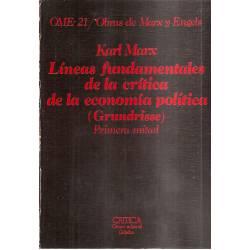 Líneas fundamentales de la crítica de la economía política (Grundrisse) (2 tomos)