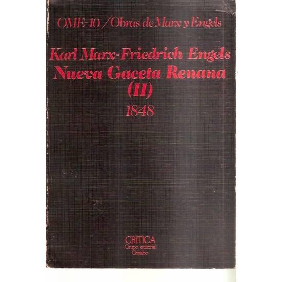 Manifiesto comunista Nueva Gaceta Renana (2 tomos)