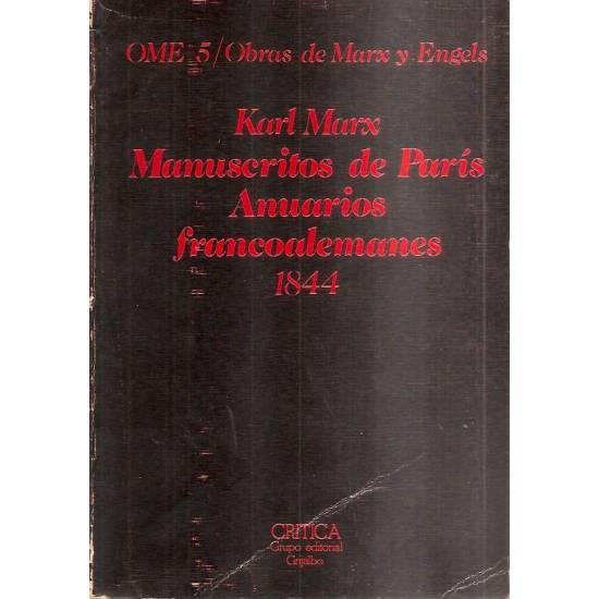Manuscritos de París Anuarios francoalemanes
