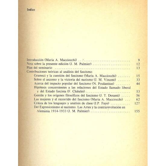 Elementos para un analisis del fascismo (I)