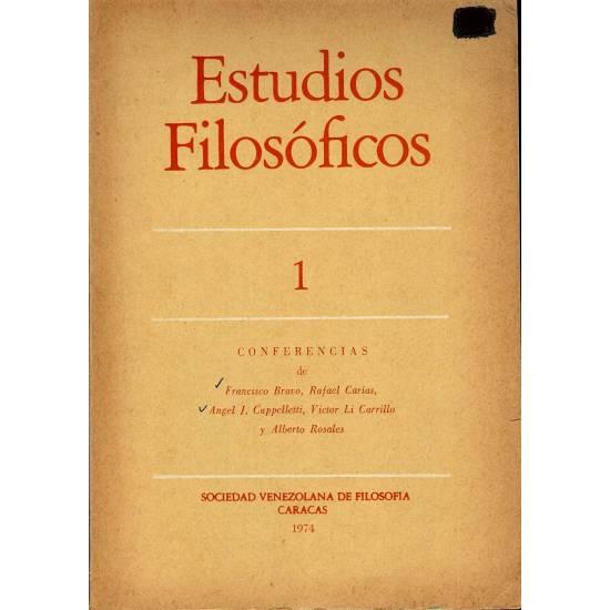 Estudios filosoficos n 1