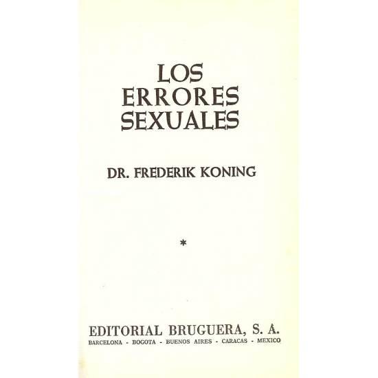 Los errores sexuales