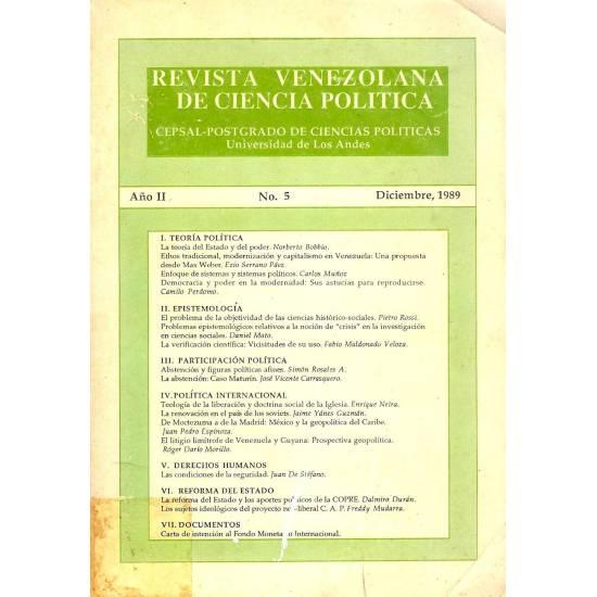 Revista venezolana de ciencia politica n 5
