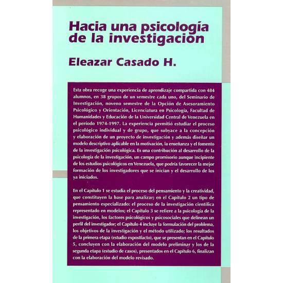 Hacia una psicologia de la investigacion