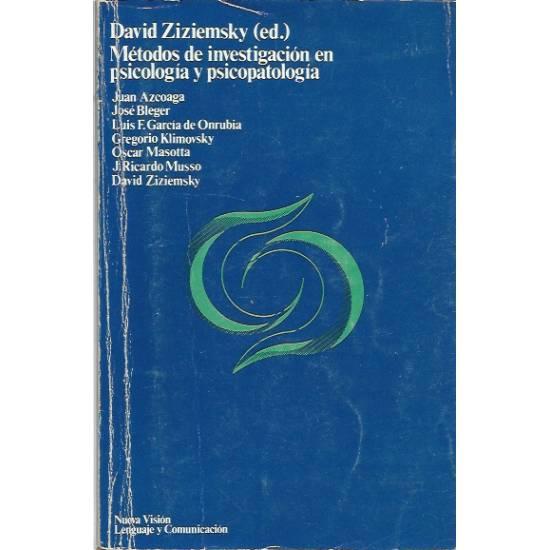Metodos de investigacion en psicologia y psicopatologia