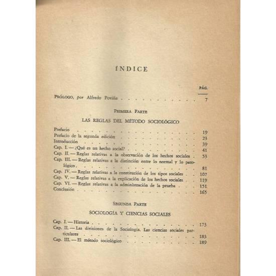 Sociologia. Las reglas del metodo. Sociologia y Ciencias Sociales