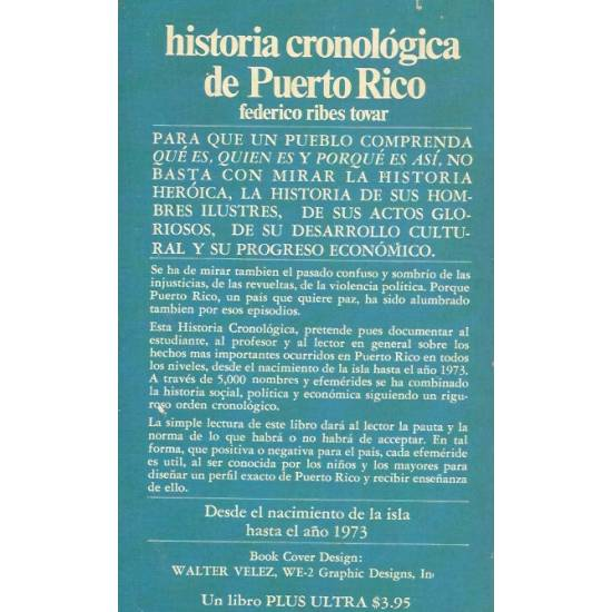 Historia cronologica de Puerto Rico
