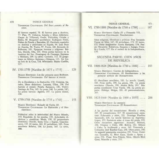 Historia de la literatura hispanoamericana (vol 1) (Tapas duras)