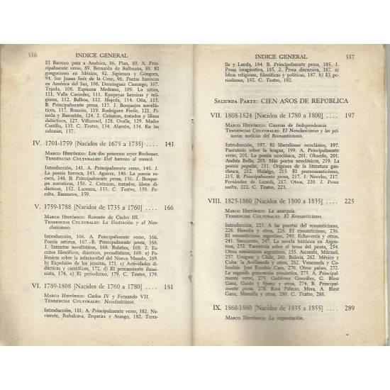 Historia de la literatura hispanoamericana (vol 1)