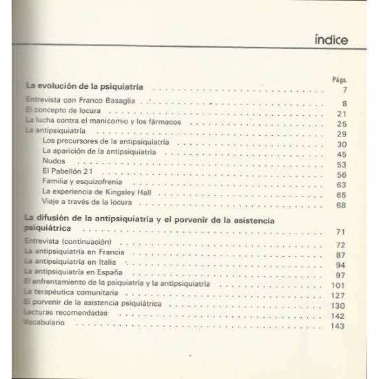 Psiquiatria y antipsiquiatria