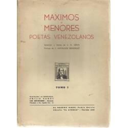 Maximos y menores poetas venezolanos (2 tomos)