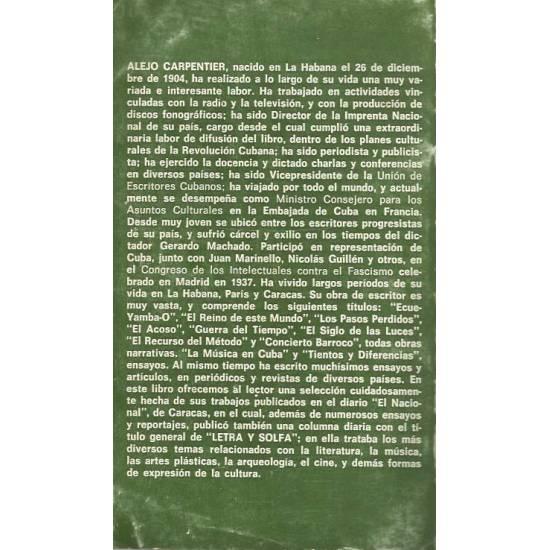 Letra y solfa Alejo Carpentier