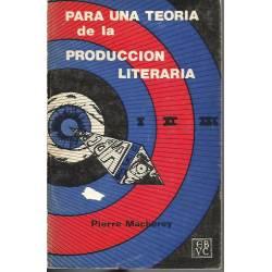 Para una teoria de la produccion literaria